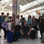 Davidson in India group photo in Heathrow Airport