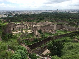 View of Golconda Fort from above